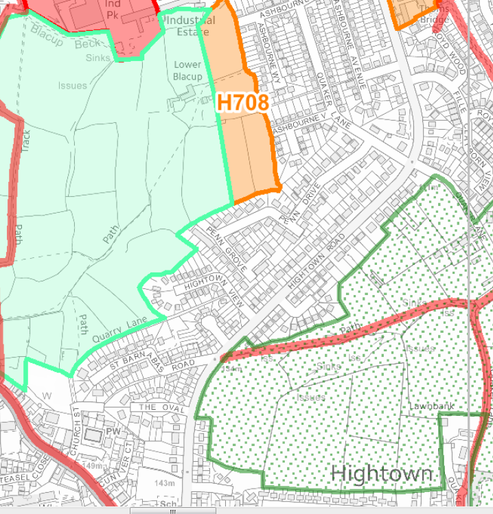 Good news: the proposed housinhg site off Hightown Road has been removed from the plan